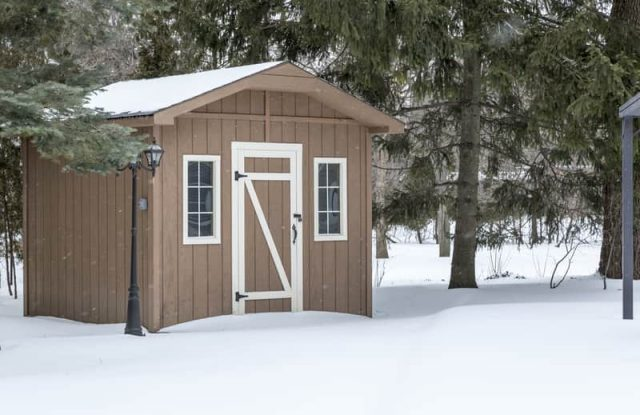shed in the winter